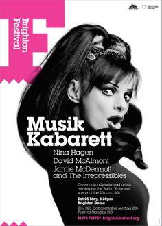 Brighton Festival 2013 poster for 'Musik Kabarett'
