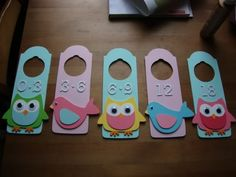 Super cute! You can either hang them by ribbon, slide them through the closet rod or use the door hangers with slits...