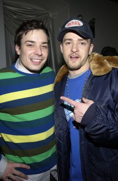 When Jimmy supported Justin through his trucker hat phase. | Community Post: 19 Times Justin Timberlake And Jimmy Fallon Literally Saved The World