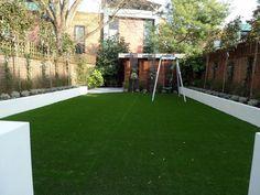 Modern Minimalist Garden Design Low Maintenance High Impact Garden Design  Raised White Wall Beds Grey Decking