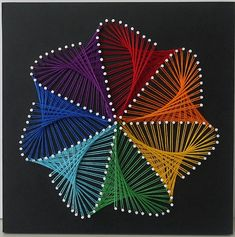 "izon, cm, 2016 from the album ""STRING ART"" izon, cm, 2016 from . String Art Templates, String Art Tutorials, String Art Patterns, Doily Patterns, Pineapple Painting, Pineapple Art, String Wall Art, Nail String Art, Arte Linear"