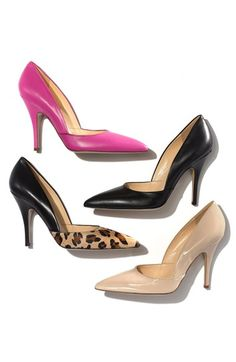 Pumps in pink, black, nude & leopard by @katespadeny