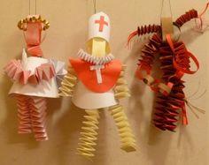 Mikuláš, Čert a Anděl Preschool Activities, Kids Crafts, Christmas Ornaments, Holiday Decor, Winter, Inspiration, Art, Ideas, Winter Time