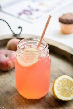 Recette de citronnade à la pêche (une pêchonnade ?) - Jujube en cuisine                                                                                                                                                     Plus
