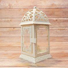 "8"" Beige / Ivory Classical Square Hurricane Candle Lantern w/ Glass Panels by PaperLanternStore Fantado http://www.amazon.com/dp/B00YQ38HY8/ref=cm_sw_r_pi_dp_e0TVvb0SYHHJT"
