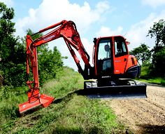 Kubota excavators are a great piece of equipment for local counties to maintain roadways with.