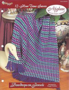 👰🏼 Crochê lListra da Herança Criações Afegão Padrão -  /  👰🏼 Crochet Stripe Heirloom Afghan Pattern Creations -