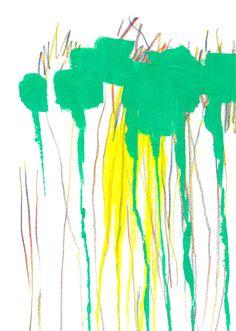 hilo negro -dibujo e ilustración-   Cascada