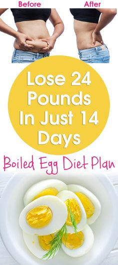Lose 24 Pounds In Just 14 Days - Boiled Egg Diet 2 Weeks Plan
