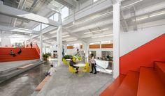 Millennial Media, Baltimore, an office space made by A+I. Office Interior Design, Office Interiors, Smart Strategy, Office Floor, Clerestory Windows, Office Environment, Office Workspace, Atrium, Design Firms