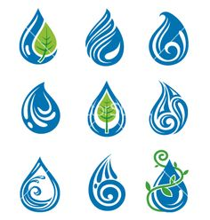 Illustration about Set of abstract water drops. Illustration of abstract, fresh, shiny - 23767426 Water Symbol, Drop Logo, Water Logo, Symbol Tattoos, Tatoos, Deco Originale, Water Drops, Drops Design, Creative Logo