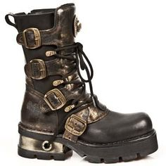 New Rock Boots - 373 C40 Steampunk Boots M3 Sole 60 DAYS CUSTOM MAKE ONLY: 36