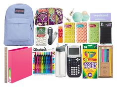 Back to School set #1 by donna113300 on Polyvore featuring interior, interiors, interior design, home, home decor, interior decorating, claire's, FOSSIL, Sharpie and INC International Concepts