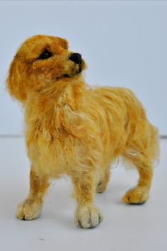 Needle felted Dog. Golden Retriever. Needle felt by darialvovsky, $180.00