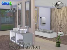 "SIMS 4 ""METAL PASSION"" BATHROOM SET //"