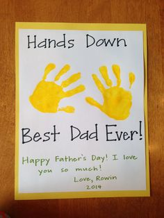 Homemade Father's Day Card