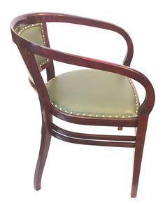 Thonet Buchenbugholz auf Mahagoni gebeizt Sitzfläche und Rückenlehne mit grünem Leder gepolstert #jugendstil #artnouveau #fauteuil #armchair #armlehnsessel #thonet #vienna #sessel #thonetsessel  #mahagoni #mahogany #antiquefurniture #fineantiques #antiqueshopvienna #vintageshopvienna #kunst19bybg #Kunst19byBG #Kunst19byBG_Bettina_Gaber #antiquesinvienna #artforsale