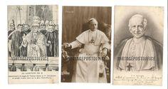 Pope religious 3 vintage postcards L'Hôtel door vintagepostoffice