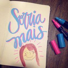Sorria, meu bem! #smile #handwritting #lettering #sketchbook #watercolor #draw