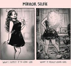This is why I never take mirror selfies, it doesn't go right