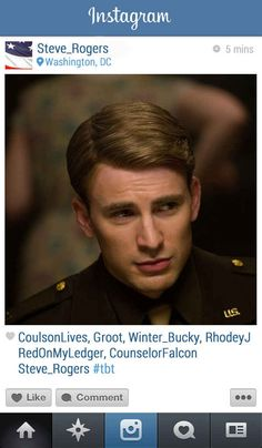 Captain America | 13 Instagrams From The Marvel Universe
