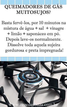 Dicas da Zezé - COMO LIMPAR OS QUEIMADORES DO FOGÃO MUITO SUJOS