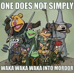 One does not simply waka waka waka into Morder... Muppets LOTR