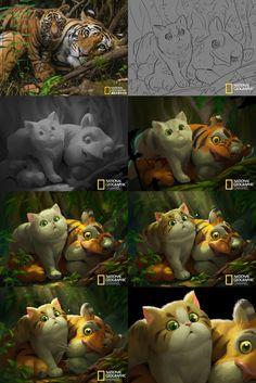 ArtStation - Cartoon National Geographic 09, Crazy JN