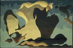 Arthur G. Dove Yellow, Blue-Green and Brown 1941