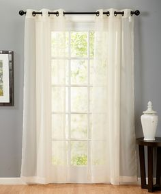 This Flax Valona Voile Panel - Set of Two is perfect! #zulilyfinds