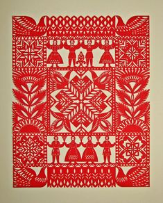 Галерея Native Symbols, Paper Art, Paper Crafts, German Folk, Polish Folk Art, Scandinavian Folk Art, Madhubani Art, Primitive Folk Art, Modern Embroidery