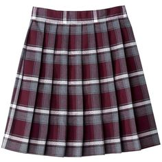 French Toast Girls School Uniform Plaid Skirt ($15) ❤ liked on Polyvore