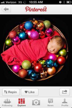 Newborn pic - christmas gift