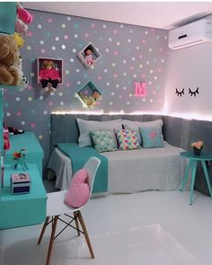 Teen Bedroom Designs, Bedroom Decor For Teen Girls, Cute Bedroom Ideas, Cute Room Decor, Room Ideas Bedroom, Teen Room Decor, Small Room Bedroom, Home Decor Bedroom, Tiny Bedrooms