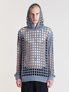 Raf Simons Archive SS06 Perforated Hooded Jumper | LN-CC