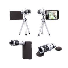 📸 ΦΑΚΟΣ LENS ΜΕ MINI ΤΡΙΠΟΔΑ ΓΙΑ SMARTPHONES 📸  Τράβα τις καλύτερες Selfies, ομαδικές και πανοραμικές φωτό, αλλά και Videos με τον Zoom 12x Mobile Telephoto Lens! Ο φακός αυτός θα σε βοηθήσει να μετατρέψεις οποιοδήποτε Smartphone σε φωτογραφική μηχανή με Zoom 12x! Ο φακός συνοδεύεται από ένα πλήρες Kit αξεσουάρ που περιλαμβάνει βάση προσαρμογής για το κινητό, τρίποδο στήριξης, καπάκια προστασίας για τους φακούς, πανάκι καθαρισμού των φακών και μαλακή θήκη μεταφοράς! Μη χάσεις αυτή ..