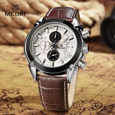 megir fashion leather sports quartz watch for man military chronograph wrist watches men army style 2020 free shipping Like if you remember  #shop #beauty #Woman's fashion #Products #Watch