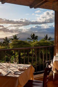 Hotel Wailea, Hawaii. Capische? restaurant serves Italian fare and has won accolades from Wine Spectator. #Jetsetter