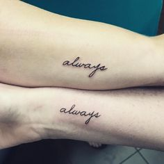 Because tattoos (and besties!) are forever.