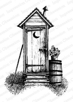 victorian outhouse sketch