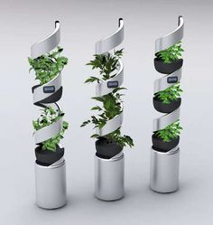 Futuristic pot plants- these hydroponics detect how much sunlight and water your plants need!