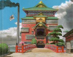 Spirited Away   Hayao Miyazaki   Studio Ghibli / Background Drawing