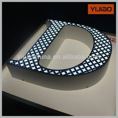 Source frontlit led channel letter signs on m.alibaba.com Led Sign Board, Signage Board, Office Signage, Shop Signage, Wayfinding Signage, Signage Design, Light Letters, Metal Letters, Pallet Letters