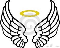 vector sketch of angel wings angel outline clip art 180 195 jpeg rh pinterest com angel wings clip art free download angel wings clip art you can add a picture to