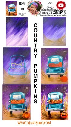 Vintage Truck And Jack O Lantern Easy Acrylic Painting Step By Step Days Of . - Ideas for teachers and students - Vintage Truck And Jack O Lantern Easy Acrylic Painting Step By Step Days Of Halloween Halloween Canvas Paintings, Fall Canvas Painting, Cute Canvas Paintings, Canvas Painting Tutorials, Simple Acrylic Paintings, Halloween Painting, Autumn Painting, Diy Painting, Fall Paintings
