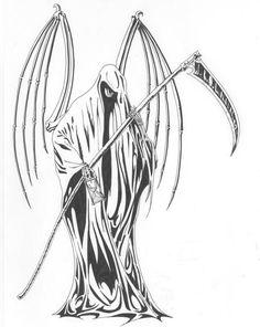 Grim Reaper Tattoo Drawings Related Keywords & Suggestions - Grim ...
