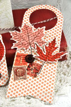 Leaf Prints Wine Bottle Tag by Dawn McVey for Papertrey Ink (August 2012)