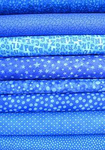 Bright Blue Fabric Bundle