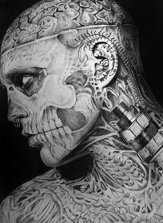 Rick Genest Zombie Boy by Portrait Lc #art #portrait #tattoo