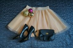 Peach handmade mini tulle skirt. Order by message or visit my shop https://www.facebook.com/cheremyha.store